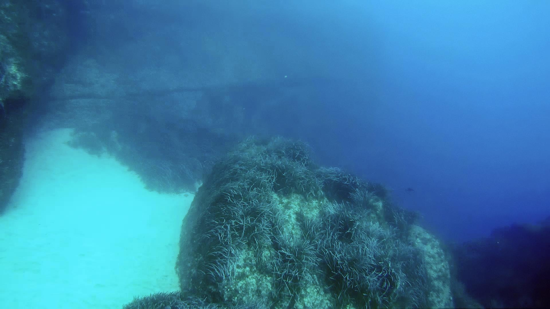 Boulders at the Black John dive site