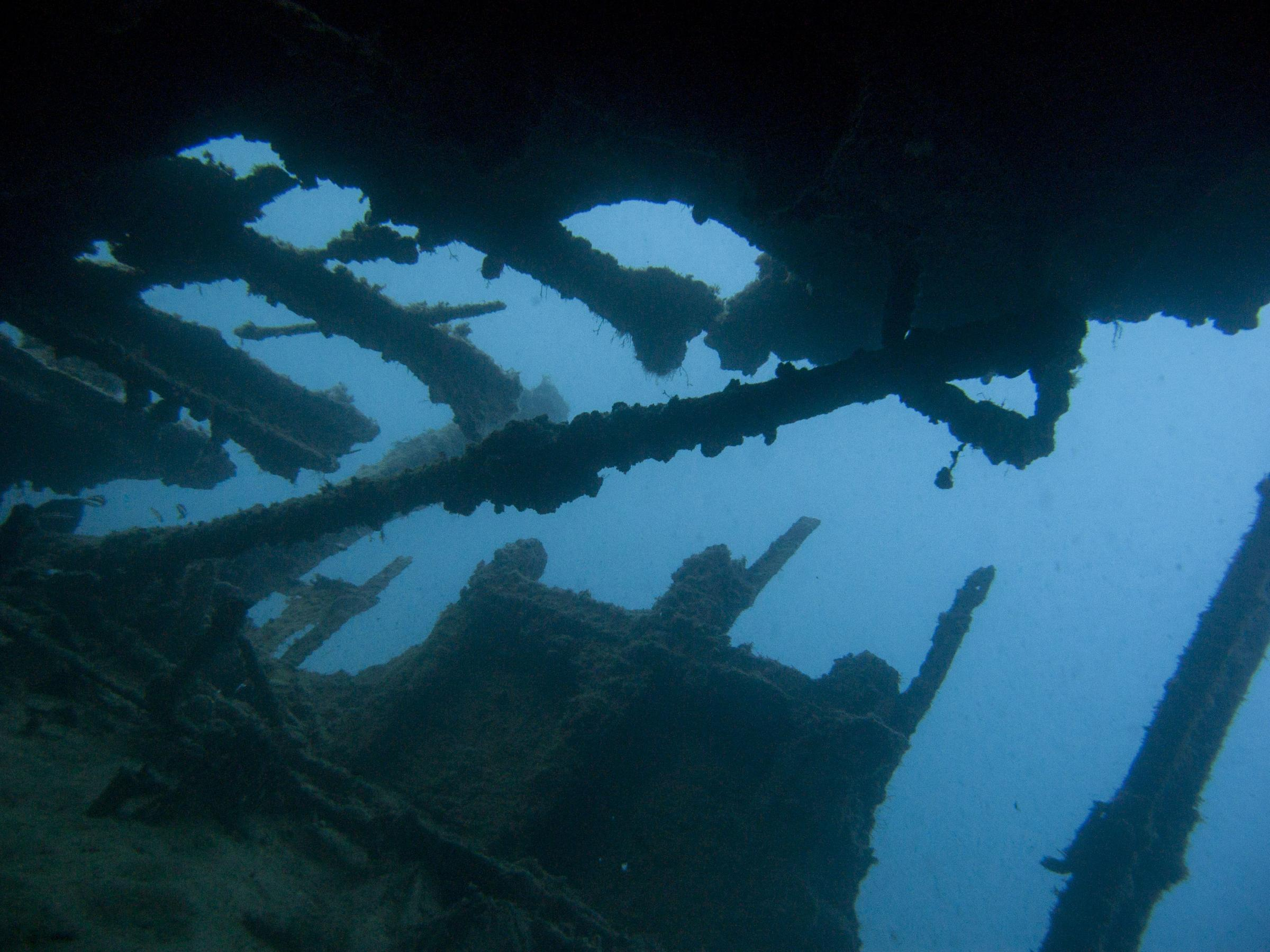 Structures on top of HMS Maori