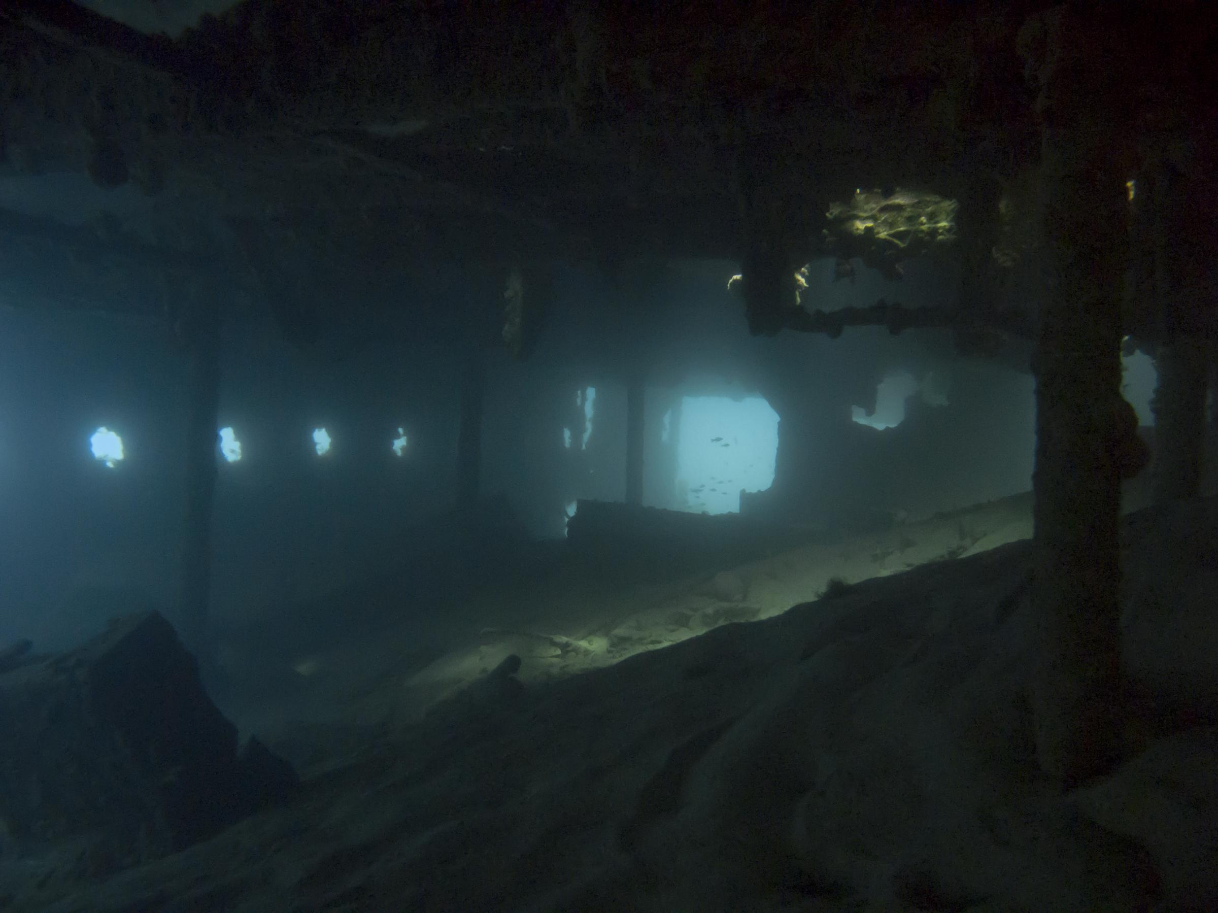 Inside Maori wreck