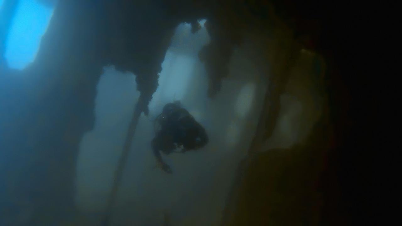 Diver inside SS Margit (MV Odile)