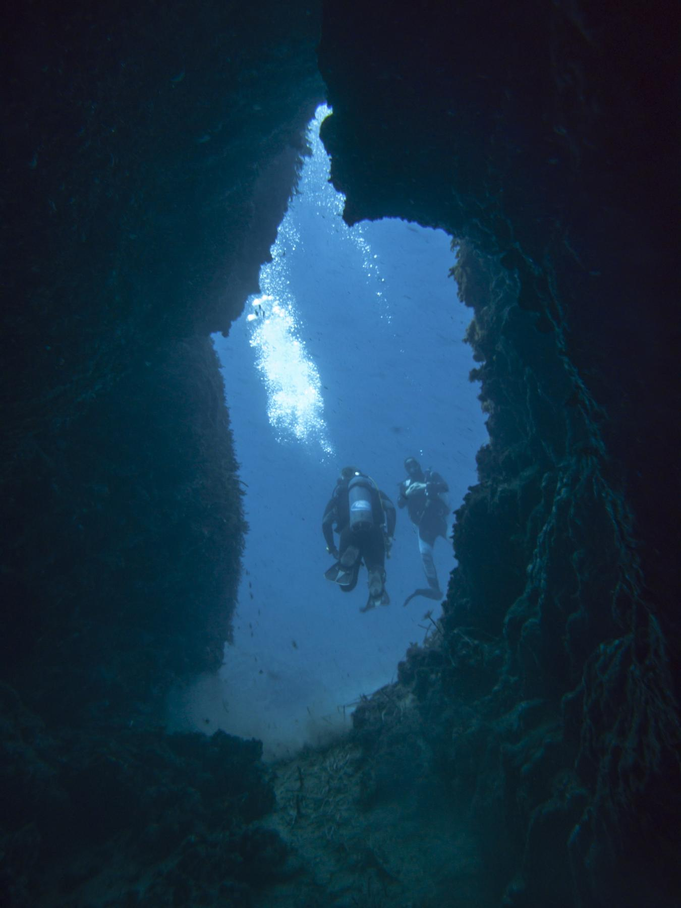 Devil's Reef cave