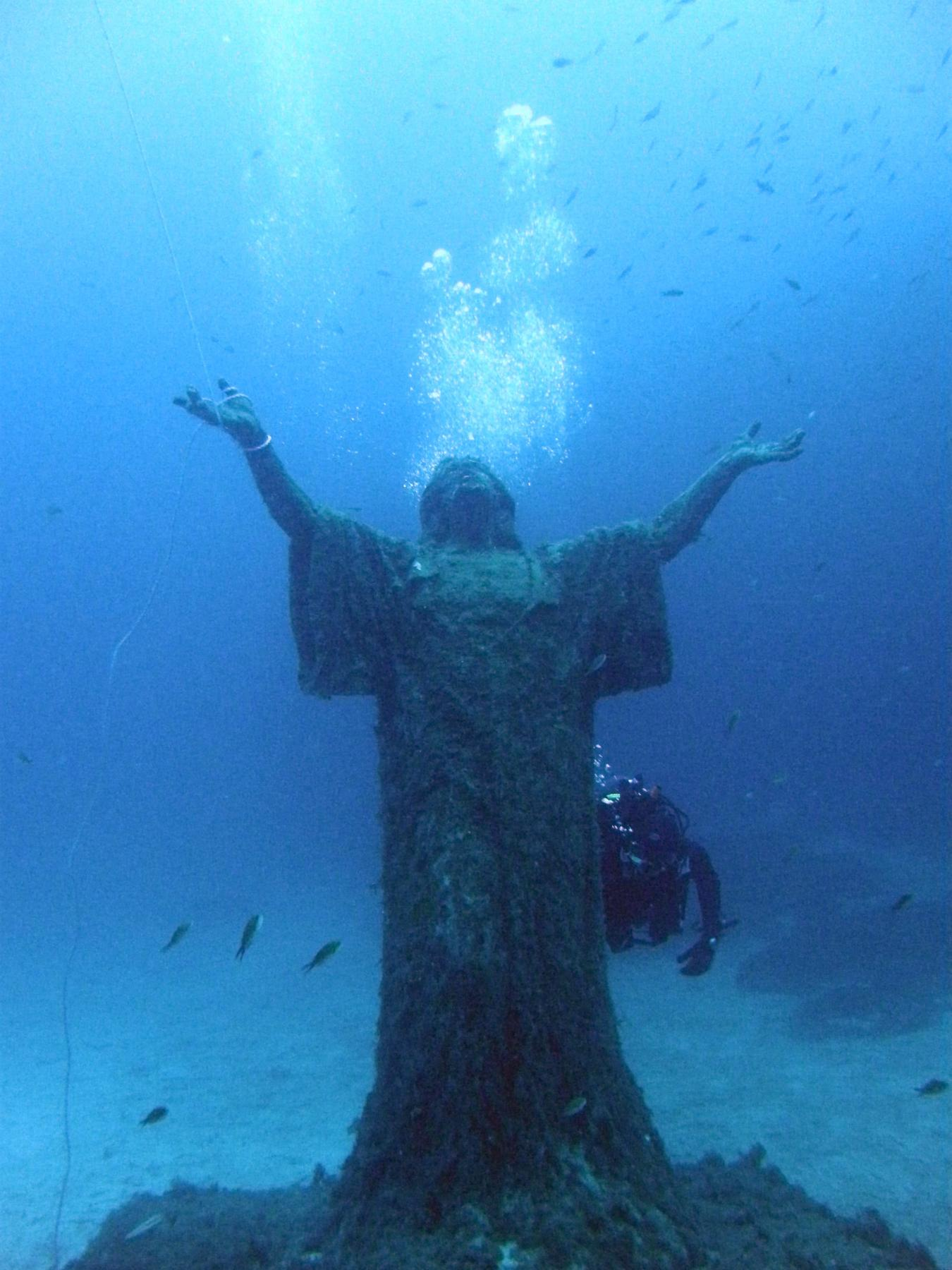 Christ statue near Imperial Eagle wreck