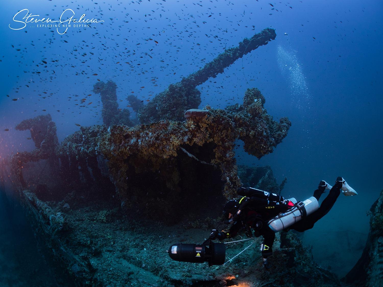 HMS Nasturtium, the stern 4 inch gun [Steven Galicia]