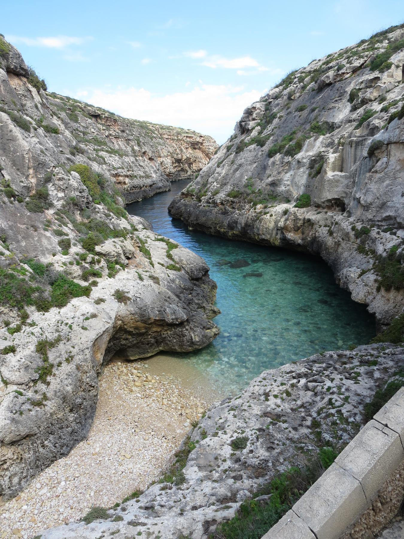 Entrance from Wied Il-Għasri