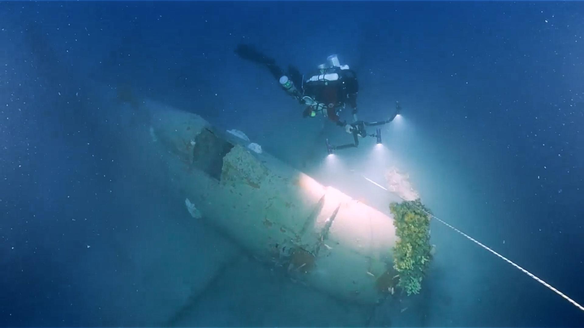 Douglas A-1 Skyraider wreck [Heritage Malta]