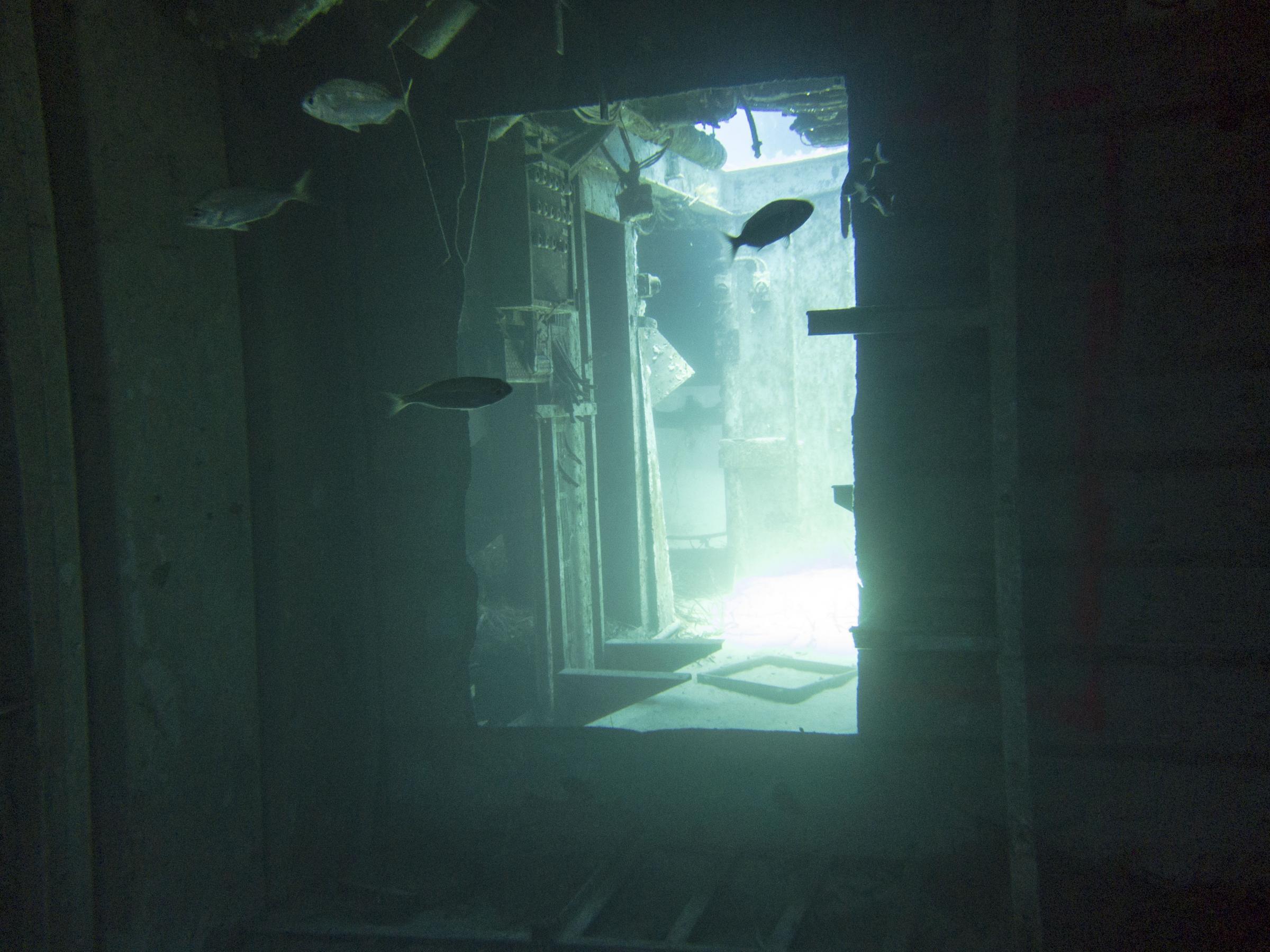 Door cut for divers